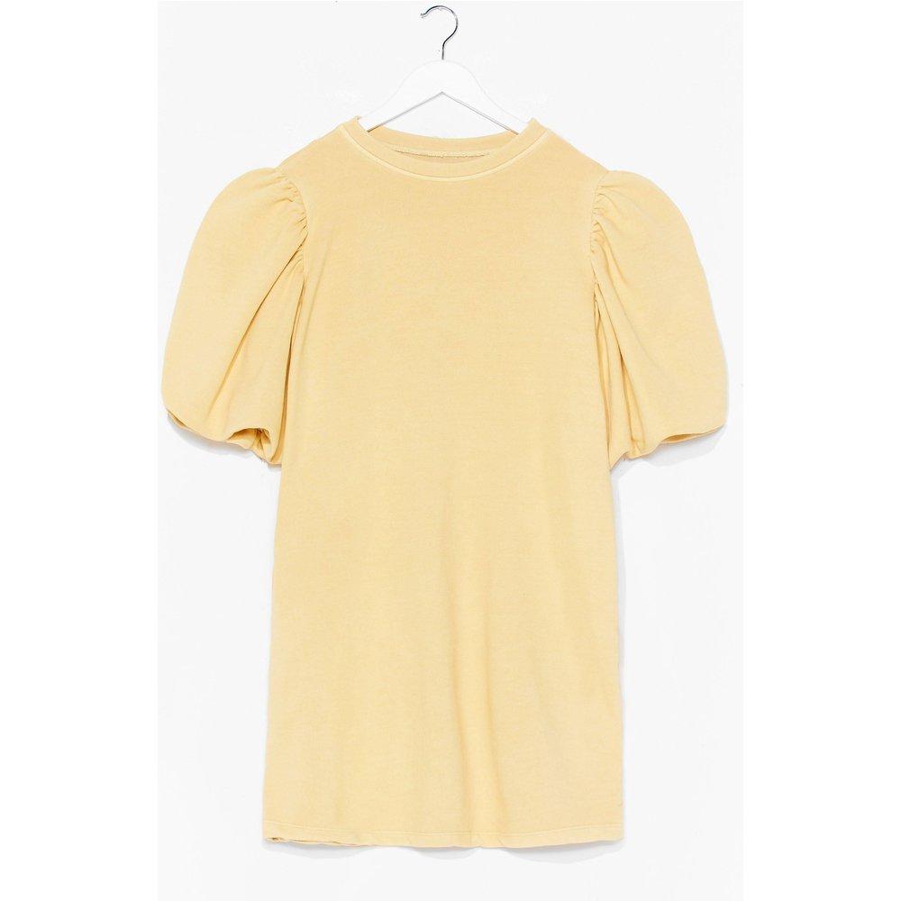Womens Dressing Gown T-Shirt Délavée À Manches Bouffantes J'Enfile En Douce - Nasty Gal - Modalova