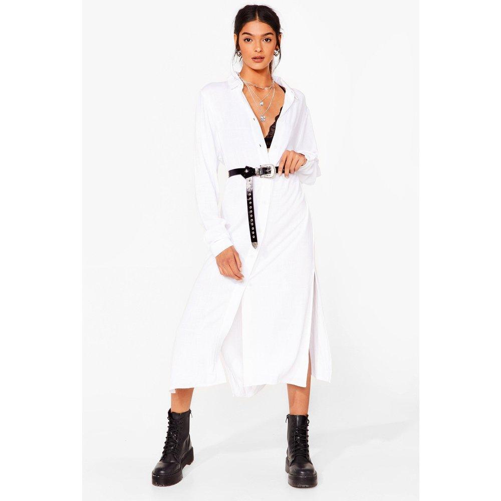 Womens Dressing Gown Chemise En Lin À Boutons J'Avais Tout Misé Sur Toi - Nasty Gal - Modalova