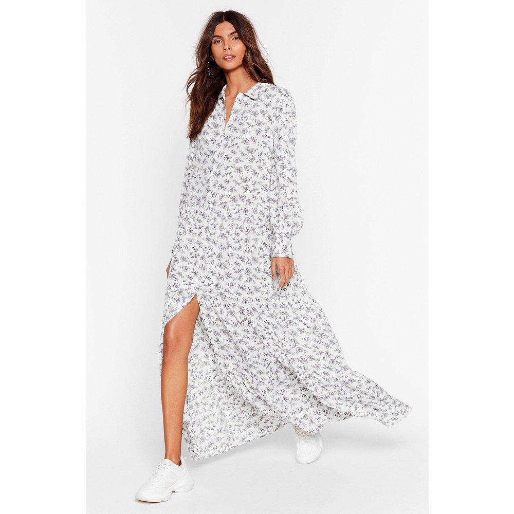Womens Dressing Gown Chemise Longue À Imprimé Fleuri Je Vais Craquer Flore - Nasty Gal - Modalova