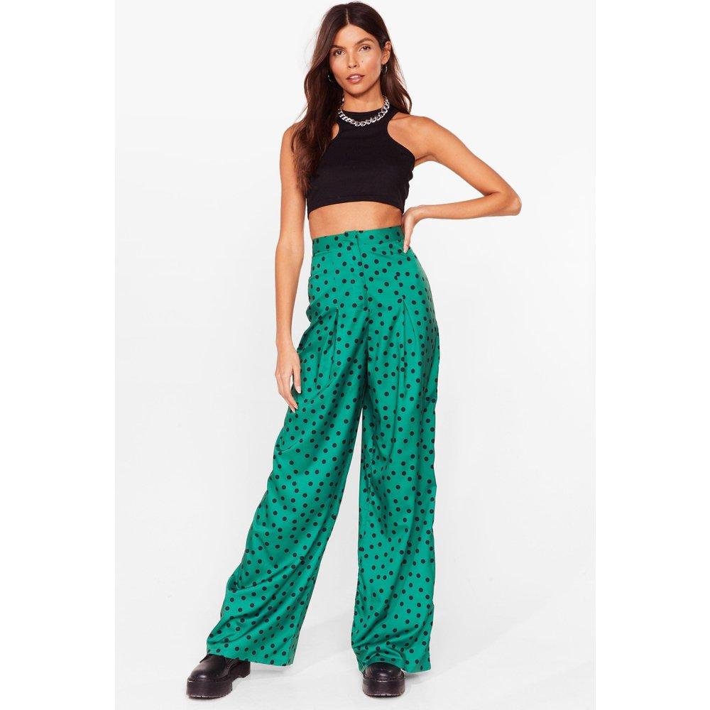 Womens Pantalon Large Taille Haute À Imprimé Pois - Nasty Gal - Modalova