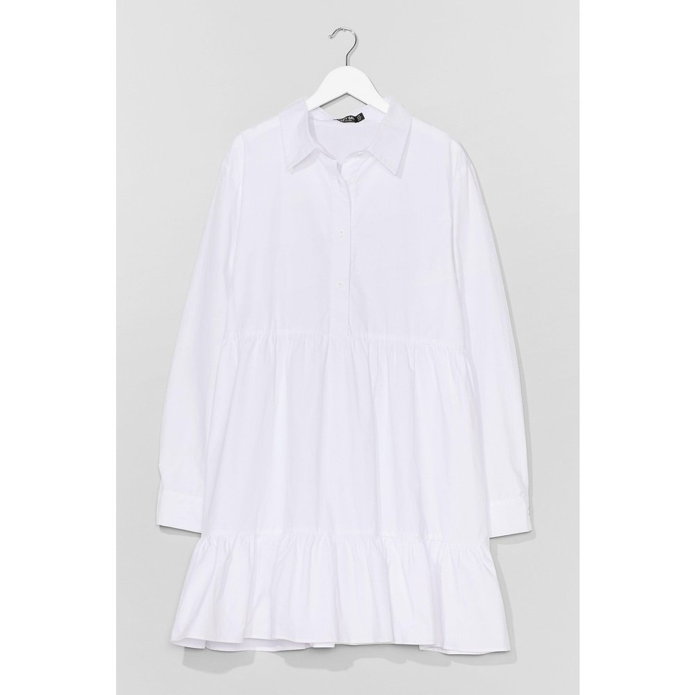 Womens Plus Cotton Smock Dress - Nasty Gal - Modalova