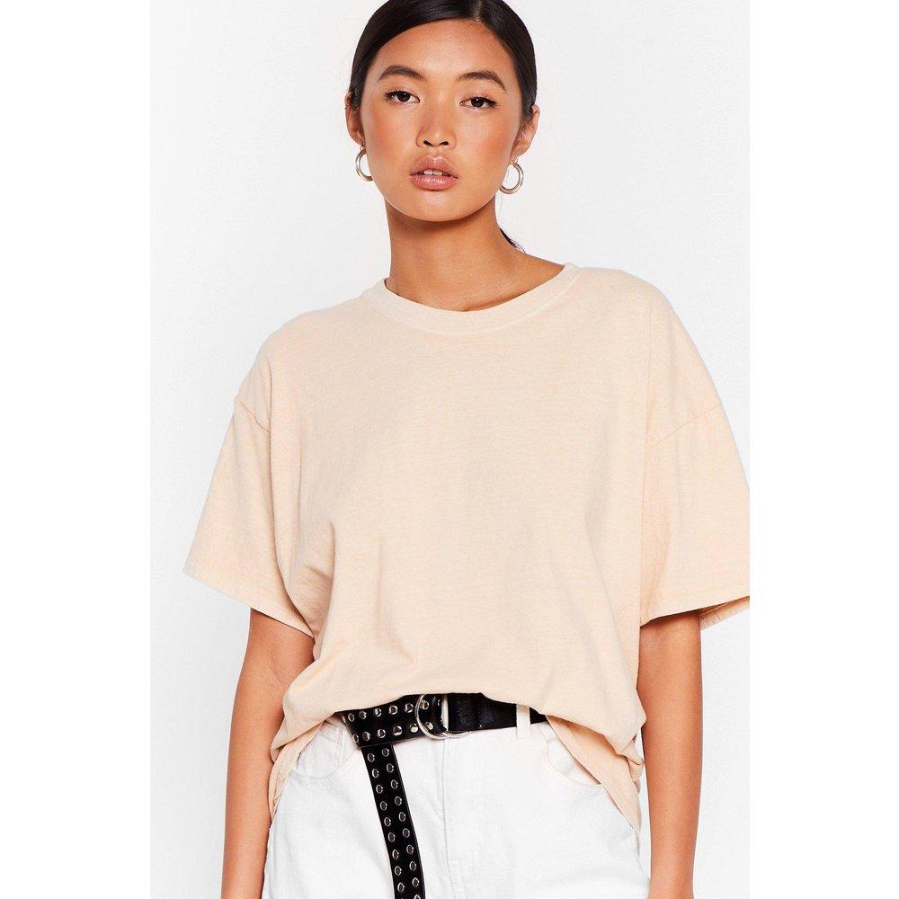 Womens T-Shirt Basique Ample La Communication C'Est La Base - Nasty Gal - Modalova