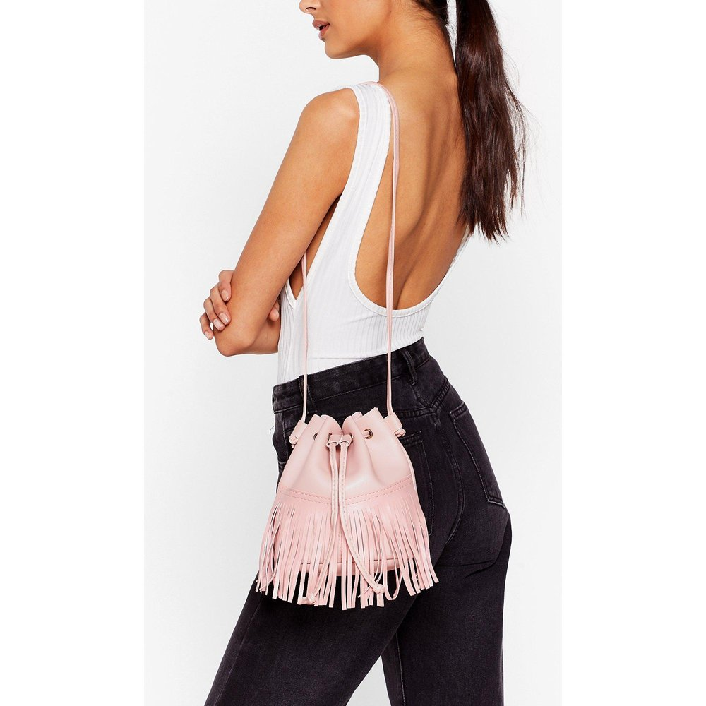 Womens Sac Bourse À Franges En Similicuir - Nasty Gal - Modalova