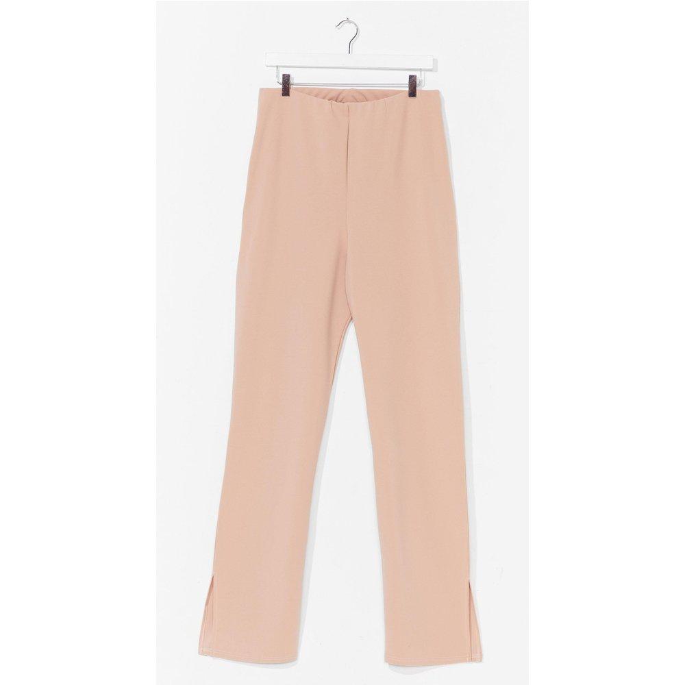 Womens Grande Taille - Pantalon Taille Haute À Fentes Texto De La Plus Haute Importance - Nasty Gal - Modalova