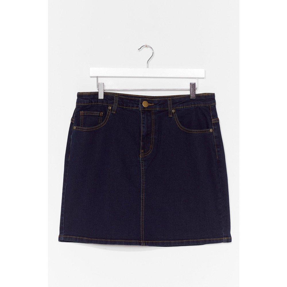 Womens Grande Taille - Mini Jupe En Jean Interêt Minime Pour Toi - Nasty Gal - Modalova