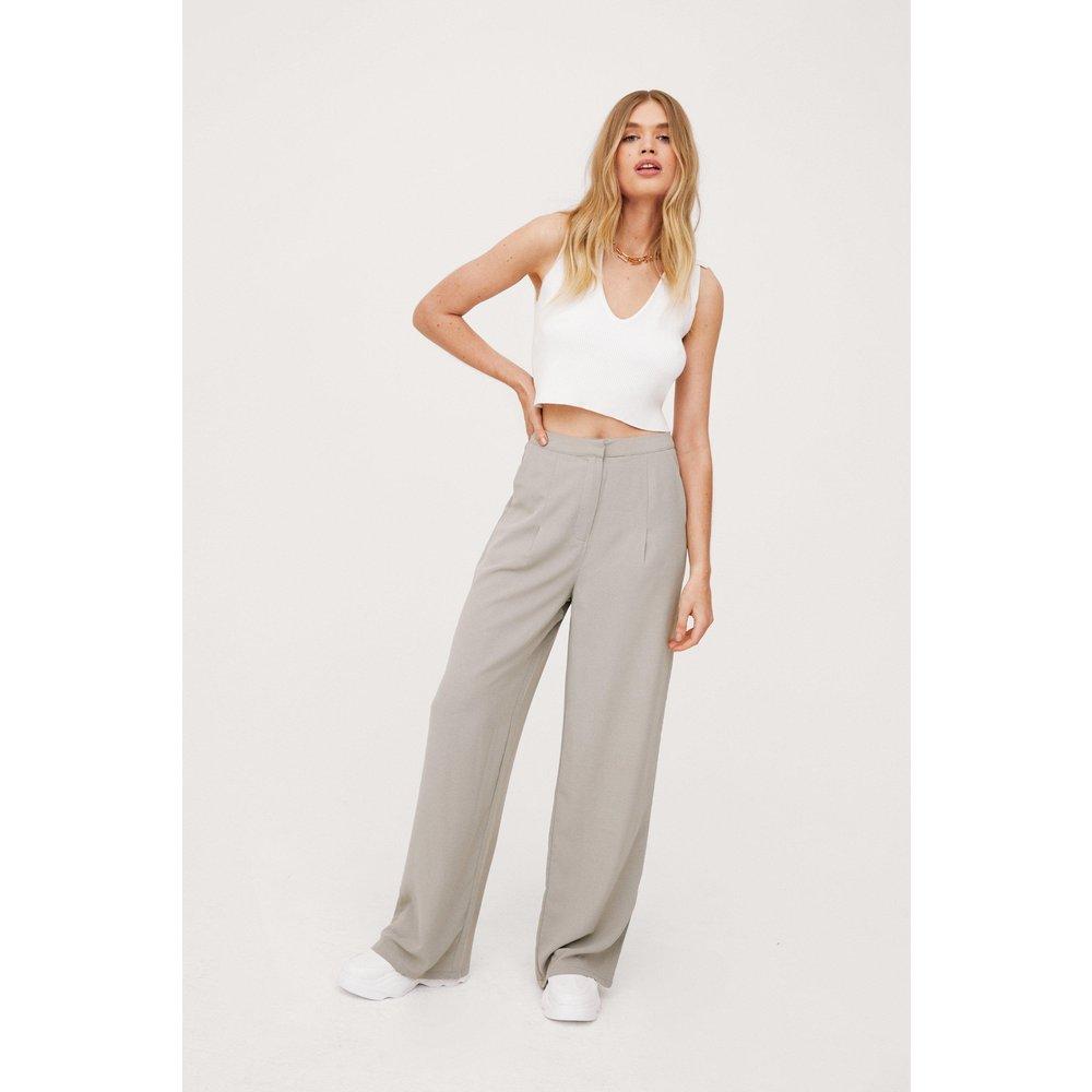 Womens Pantalon Large Taille Haute L'Amour Extra-Large - Nasty Gal - Modalova