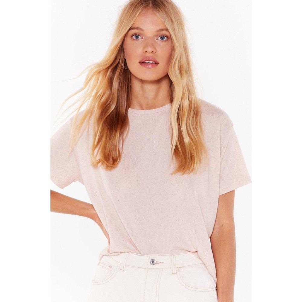Womens T-Shirt Basique Ample Y'A Comme Un Bas-Ique - Nasty Gal - Modalova