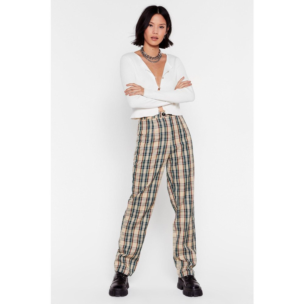 Pantalon Taille Haute J'Ai Loupé Le Coche - Nasty Gal - Modalova