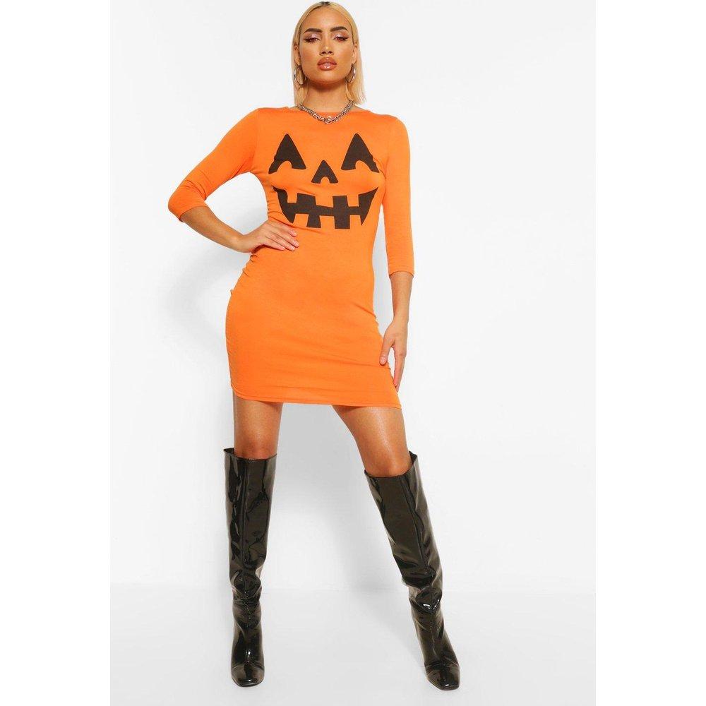 Robe Moulante D'Halloween Imprimé Citrouille - boohoo - Modalova