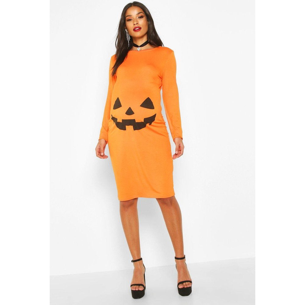 Robe Moulante De Maternité Citrouille D'Halloween - boohoo - Modalova