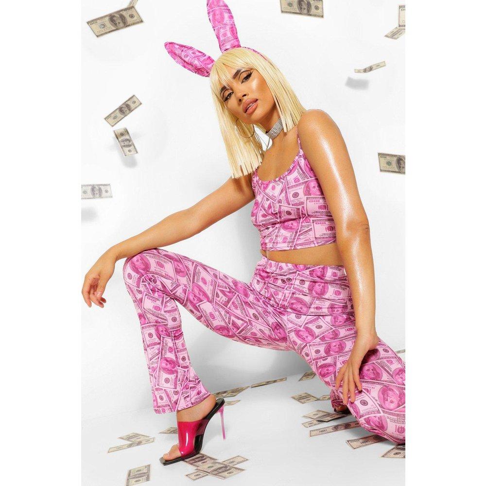 Money Print Slinky Crop Top - boohoo - Modalova