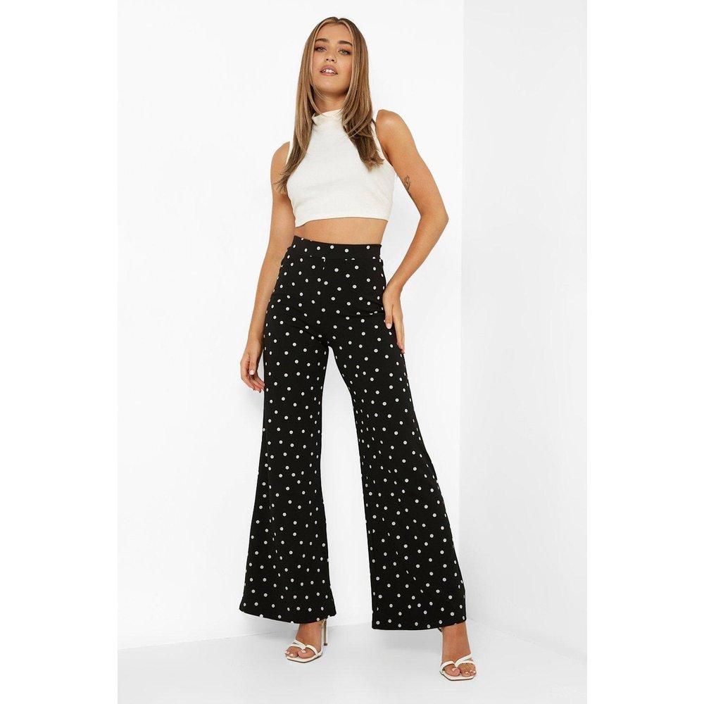 Pantalon Large & Fluide En Crêpe À Pois - boohoo - Modalova