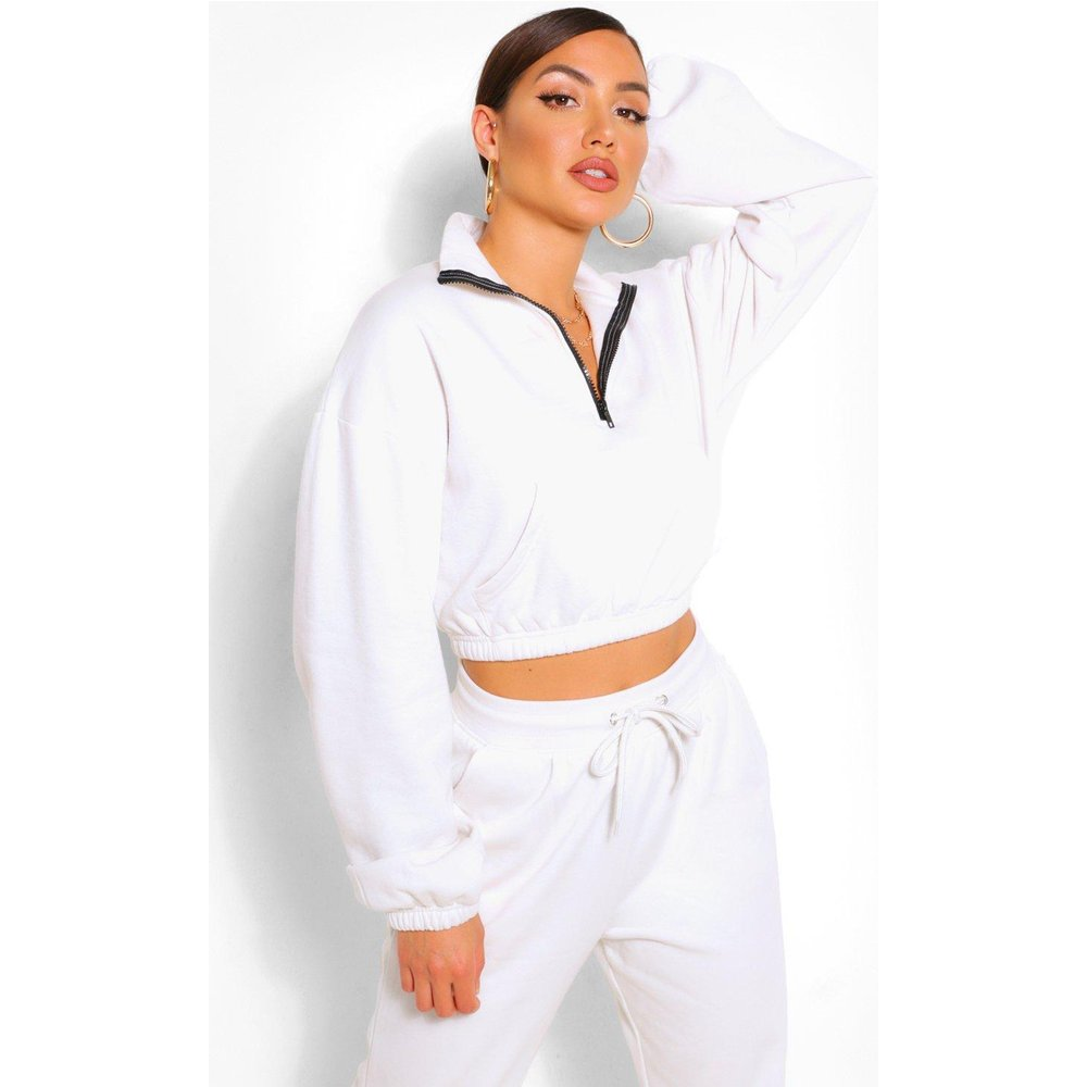 Sweat Lounge Court Zippé Coupe Oversize - boohoo - Modalova