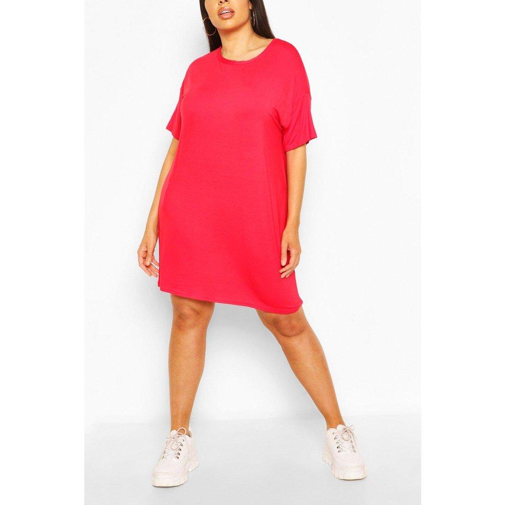 Robe T-Shirt Coupe Oversize Basique En Jersey Plus - boohoo - Modalova