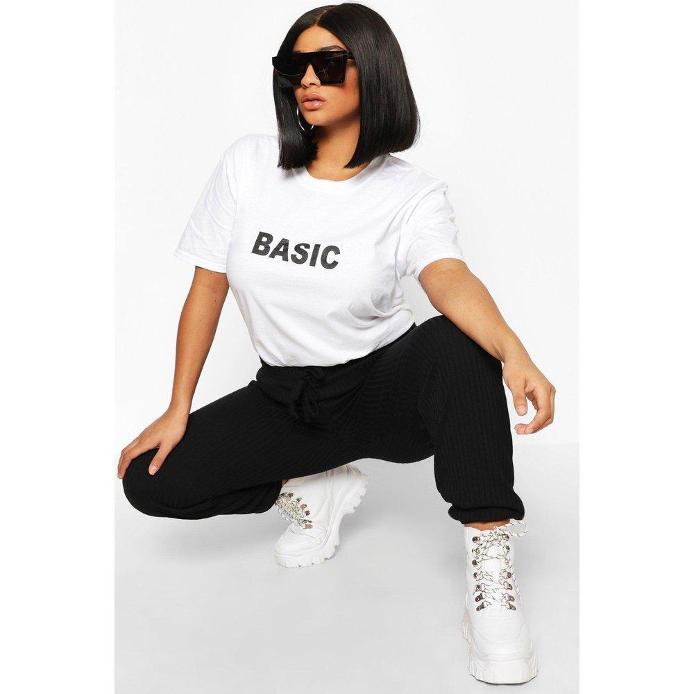 T-Shirt Basique Plus - boohoo - Modalova