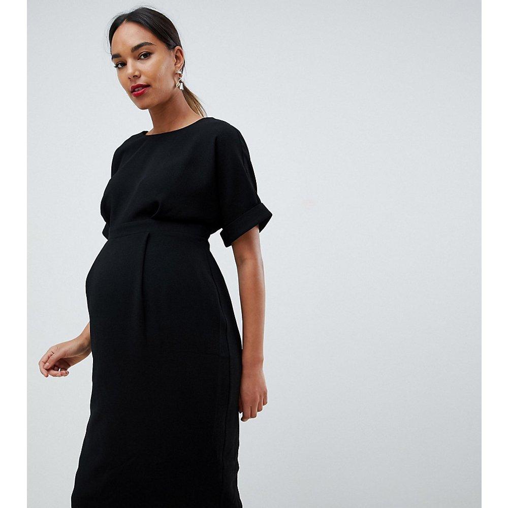 16622a249 ASOS DESIGN Maternity - Robe fluide mi-longue