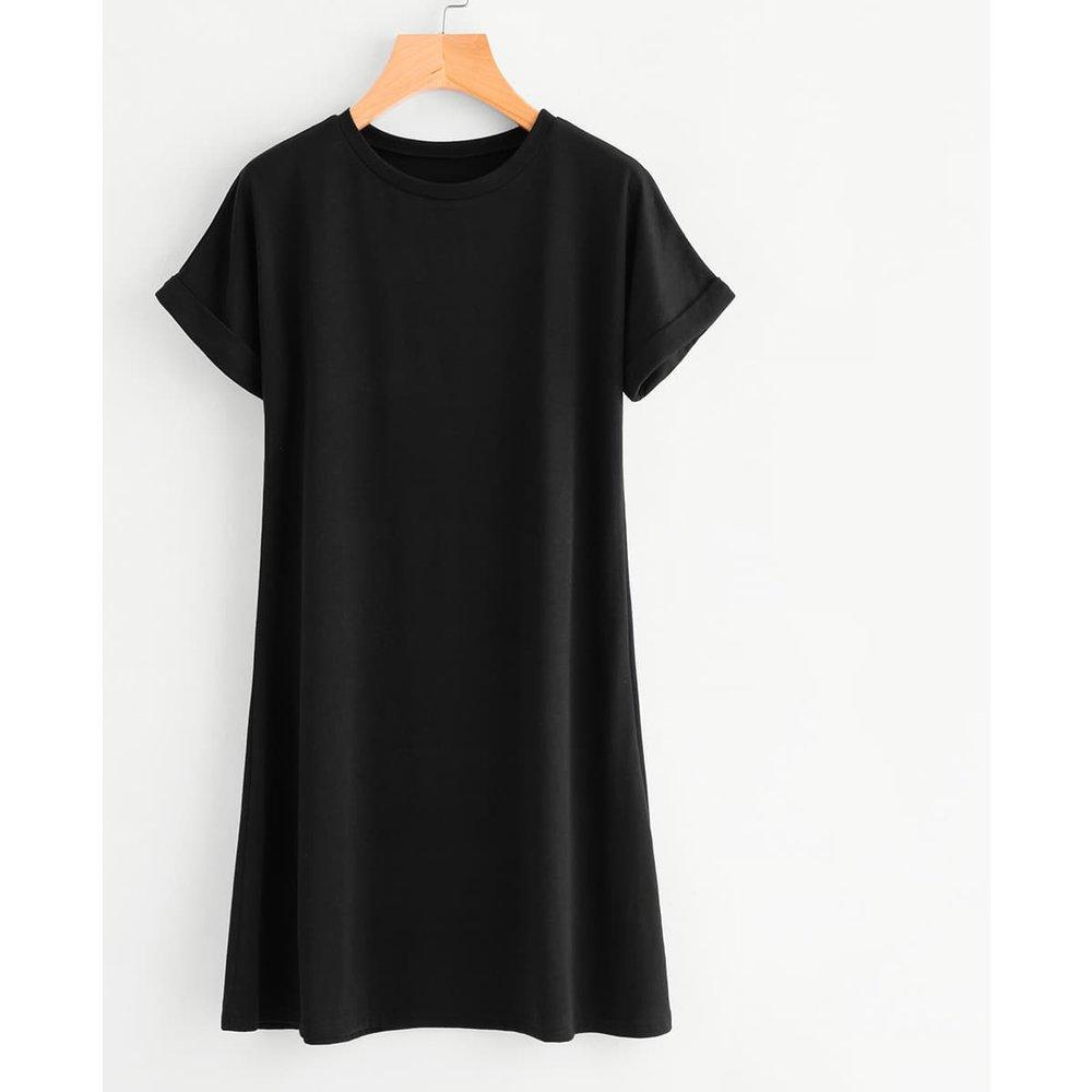 Robe t-shirt unie - SHEIN - Modalova