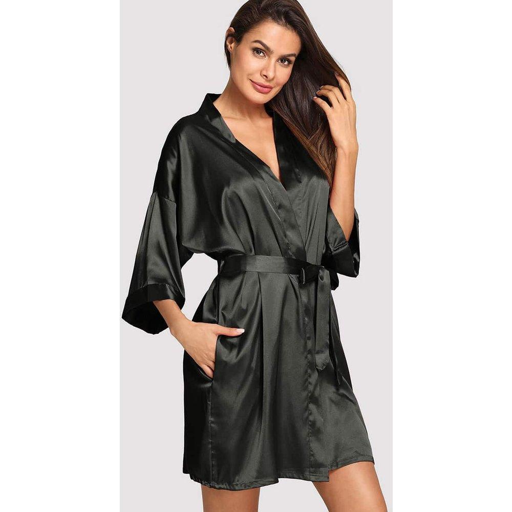 Robe de chambre unicolore avec ceinture - SHEIN - Modalova
