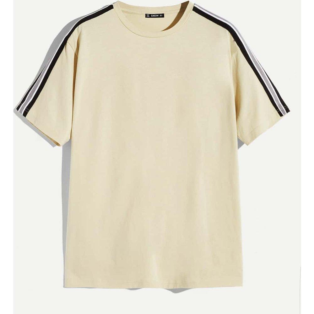 T-shirt avec bandes rayées - SHEIN - Modalova