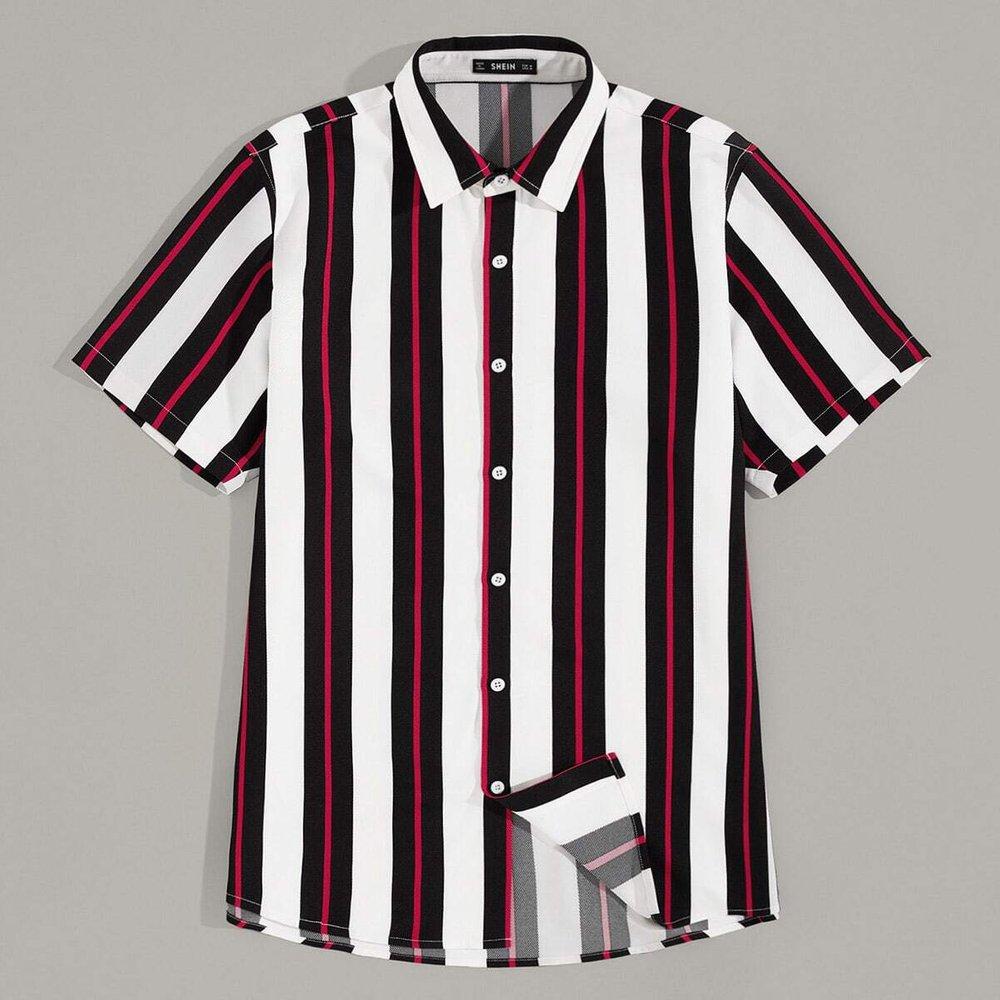 Chemise rayée avec boutons - SHEIN - Modalova