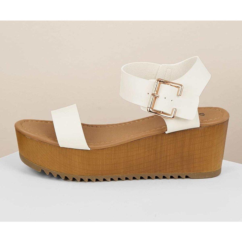 Sandales compensées avec boucles - SHEIN - Modalova