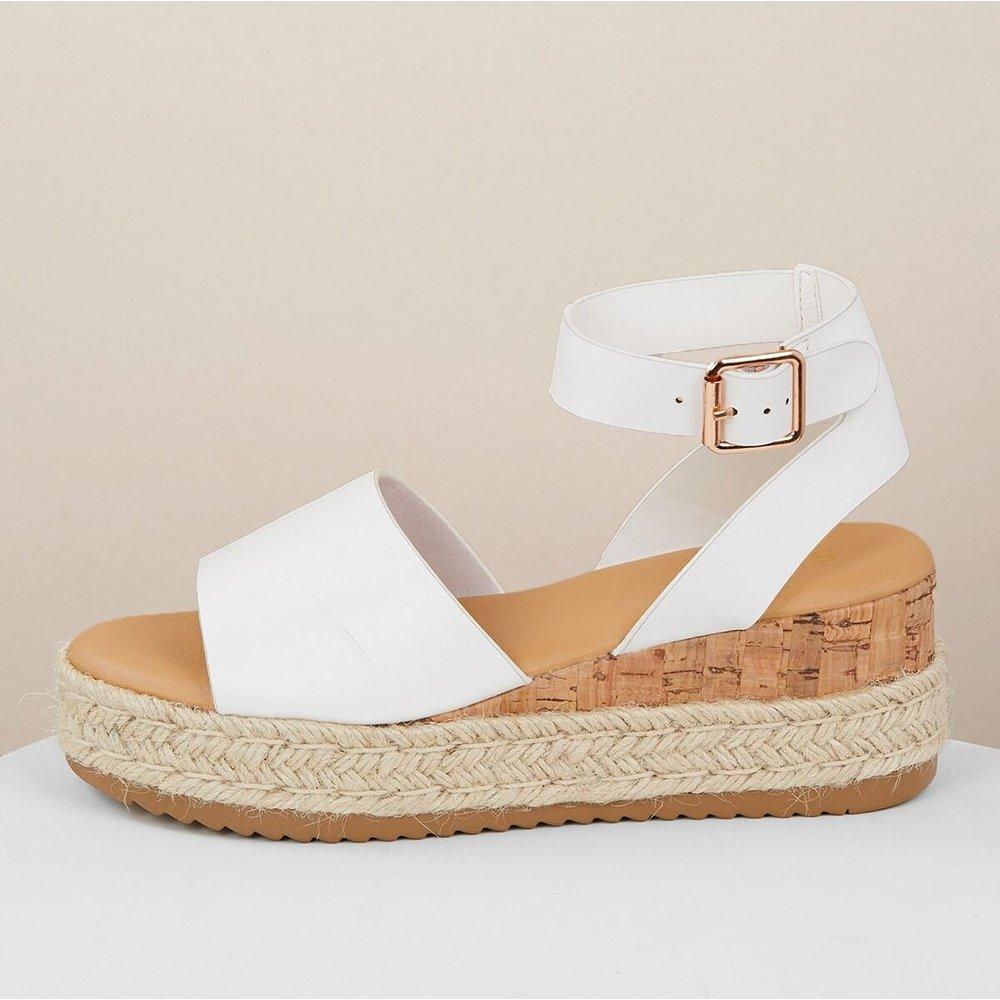 Sandales compensées à bride de cheville - SHEIN - Modalova