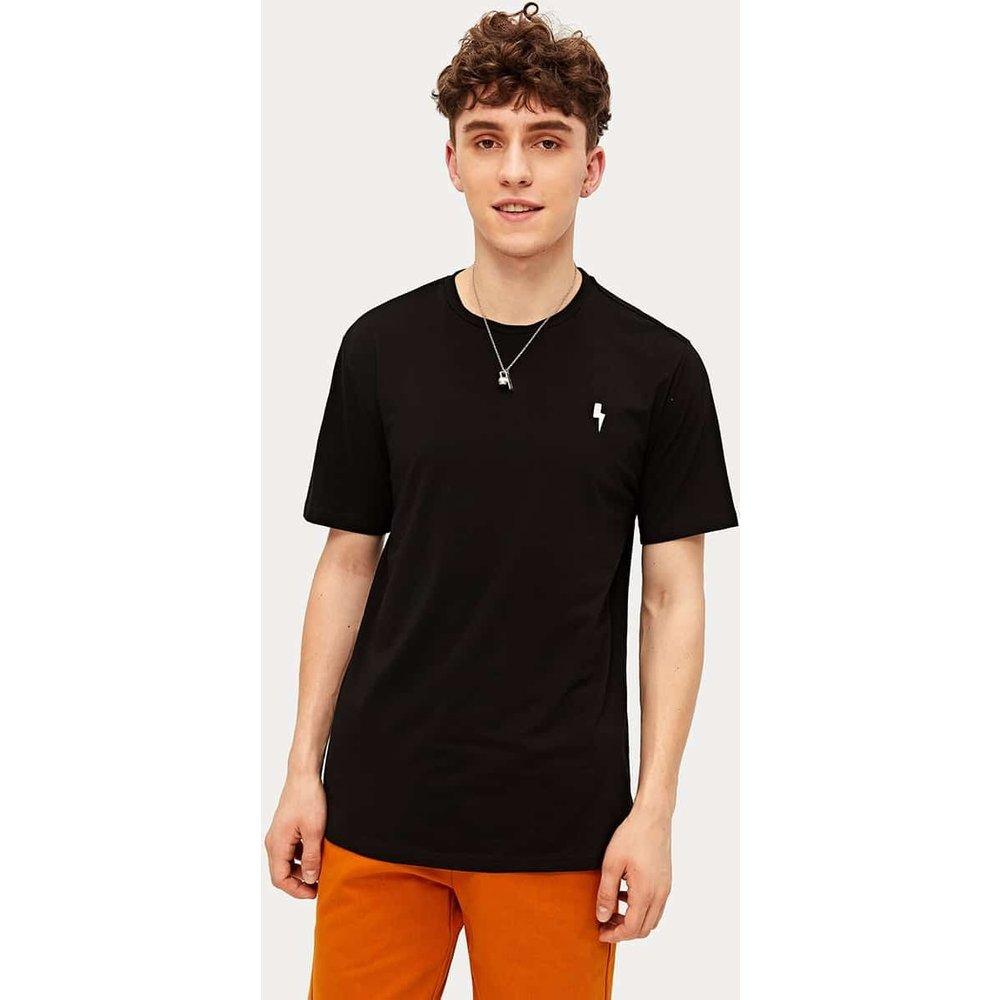 T-shirt tunique brodé foudre - SHEIN - Modalova