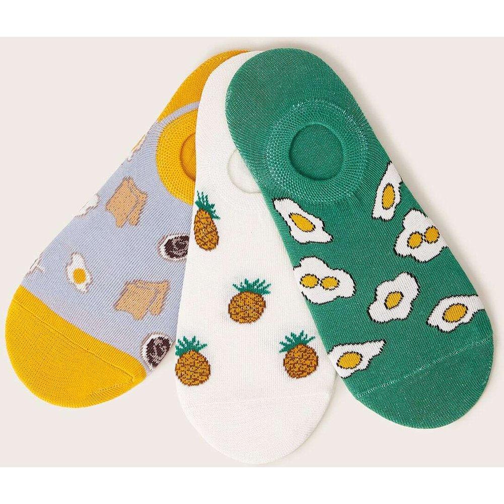Chaussettes invisibles avec motif ananas 3 paires - SHEIN - Modalova