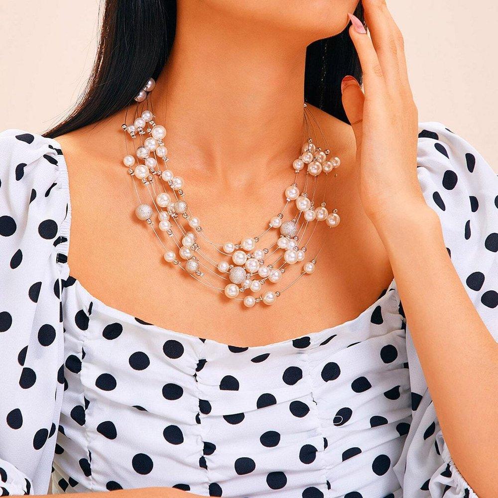 Collier avec fausse perle 1 pièce - SHEIN - Modalova
