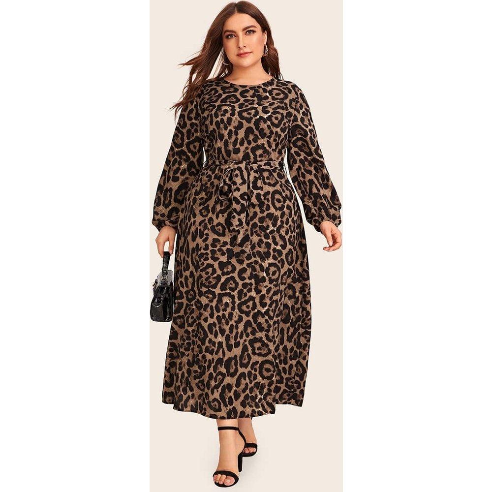 Robe léopard avec nœud - SHEIN - Modalova