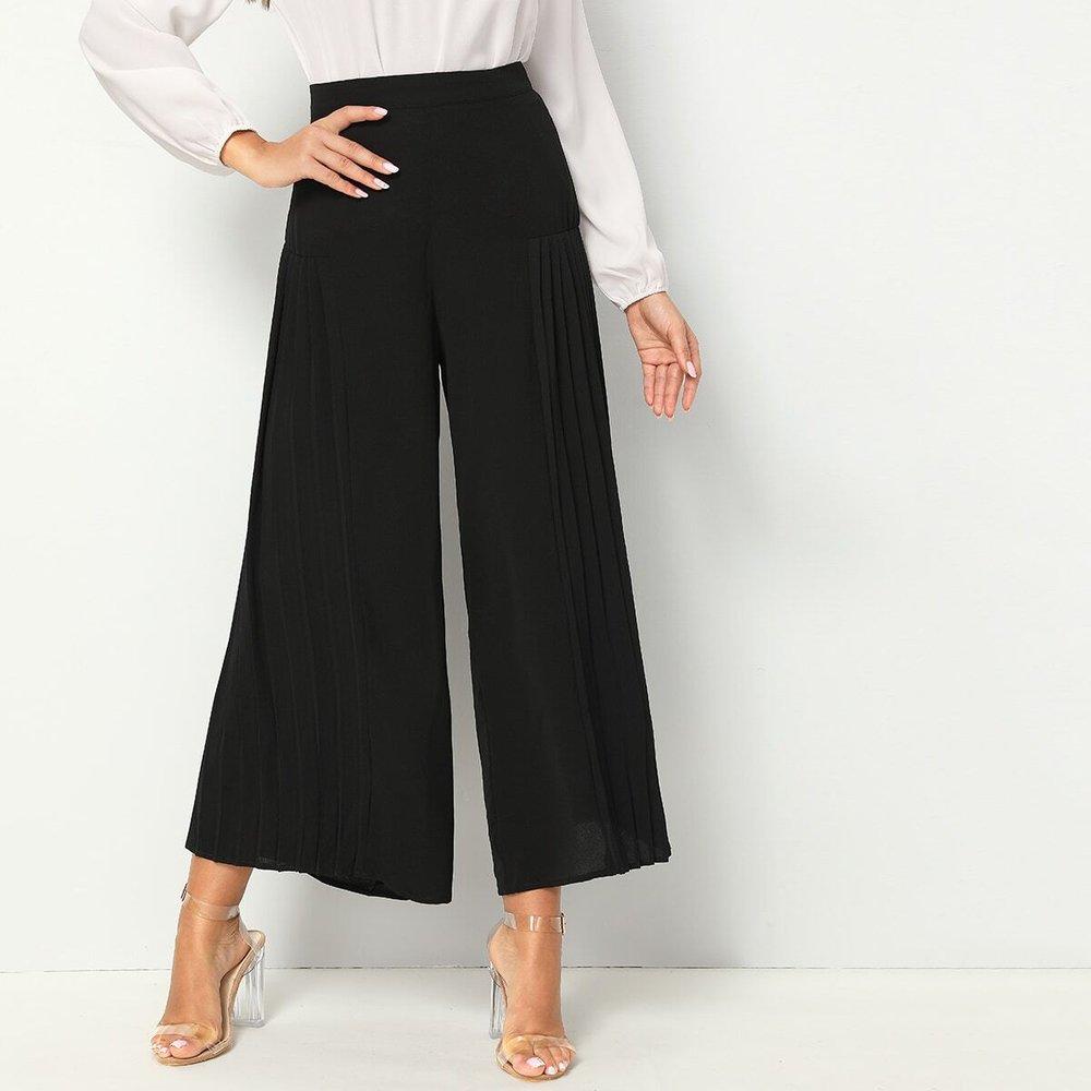 Jupe-culotte plissé unicolore - SHEIN - Modalova