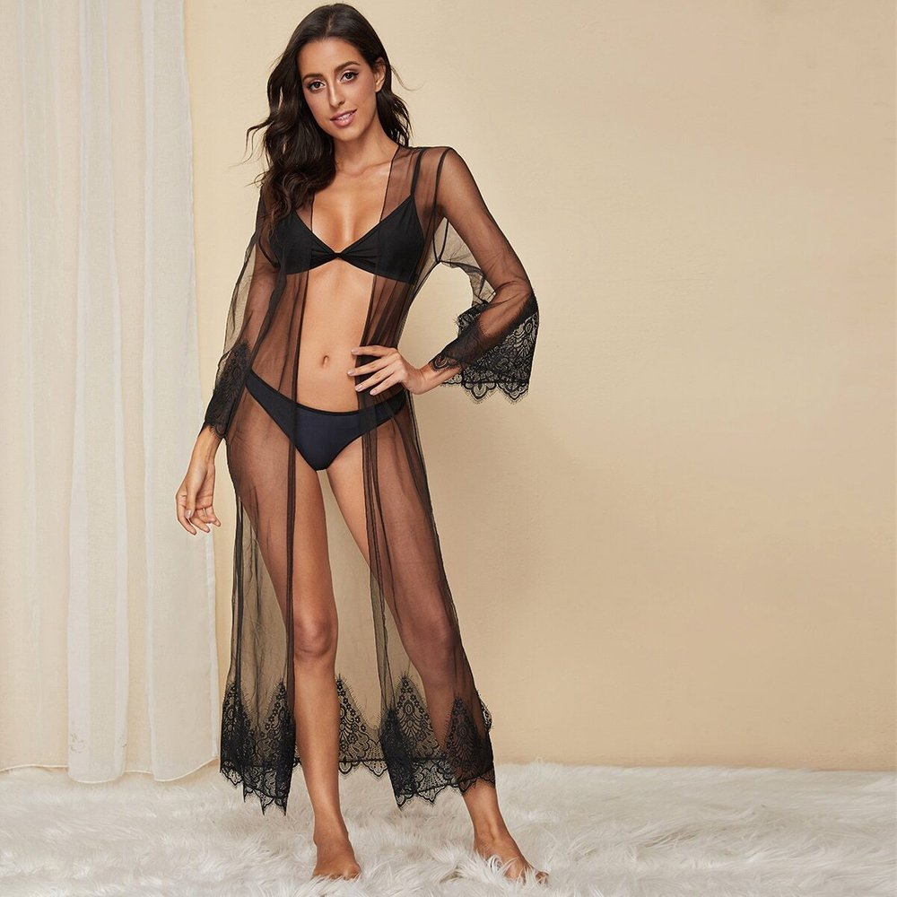 Robe de chambre transparente(sans lingerie) - SHEIN - Modalova