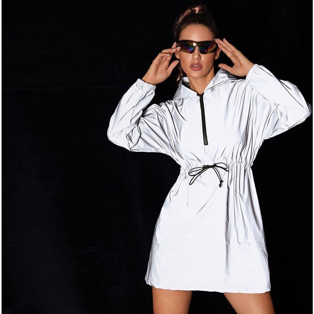 Veste à capuche coupe-vent longue réfléchissante - SHEIN - Modalova