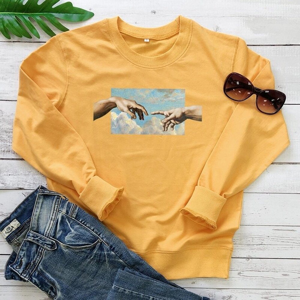 Sweat-shirt avec imprimé geste - SHEIN - Modalova