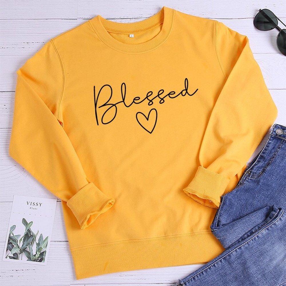 Sweat-shirt avec imprimé cœur - SHEIN - Modalova