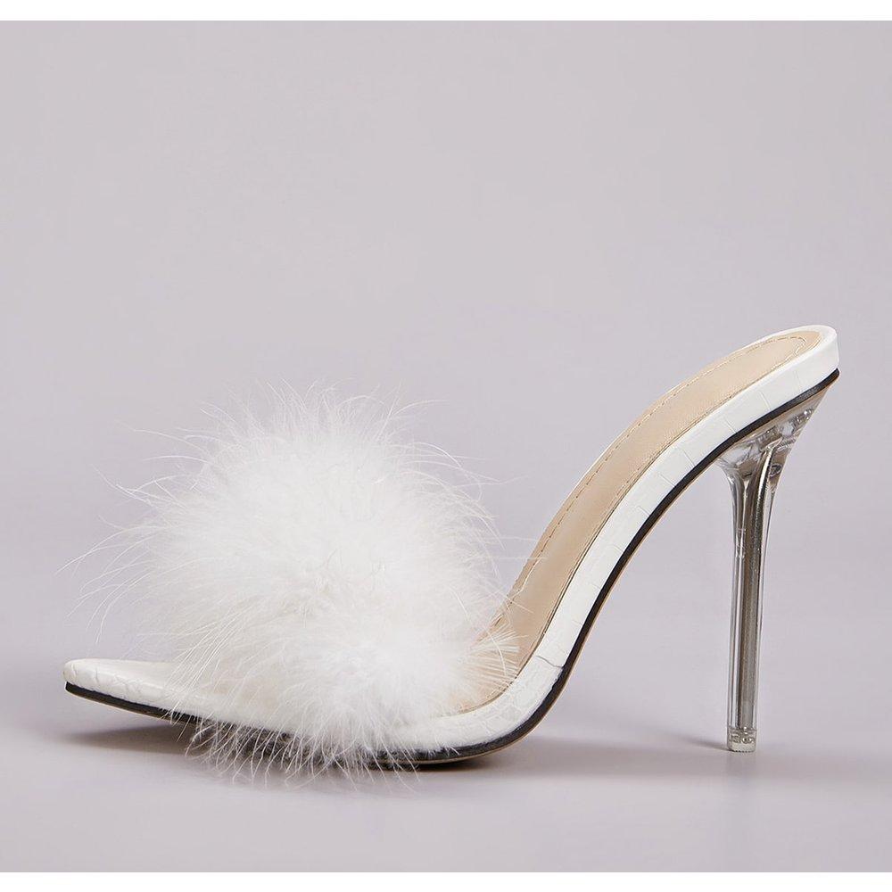 Chaussures à talons aiguilles avec fourrure synthétique - SHEIN - Modalova