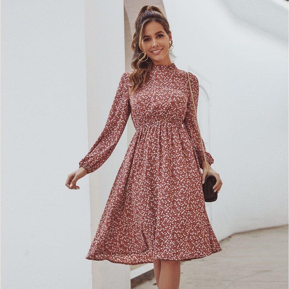 Robe trapèze à imprimé floral - SHEIN - Modalova