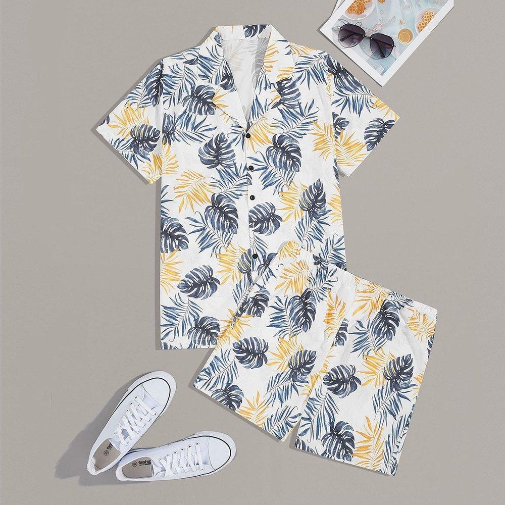 Ensemble t-shirt et short à imprimé - SHEIN - Modalova