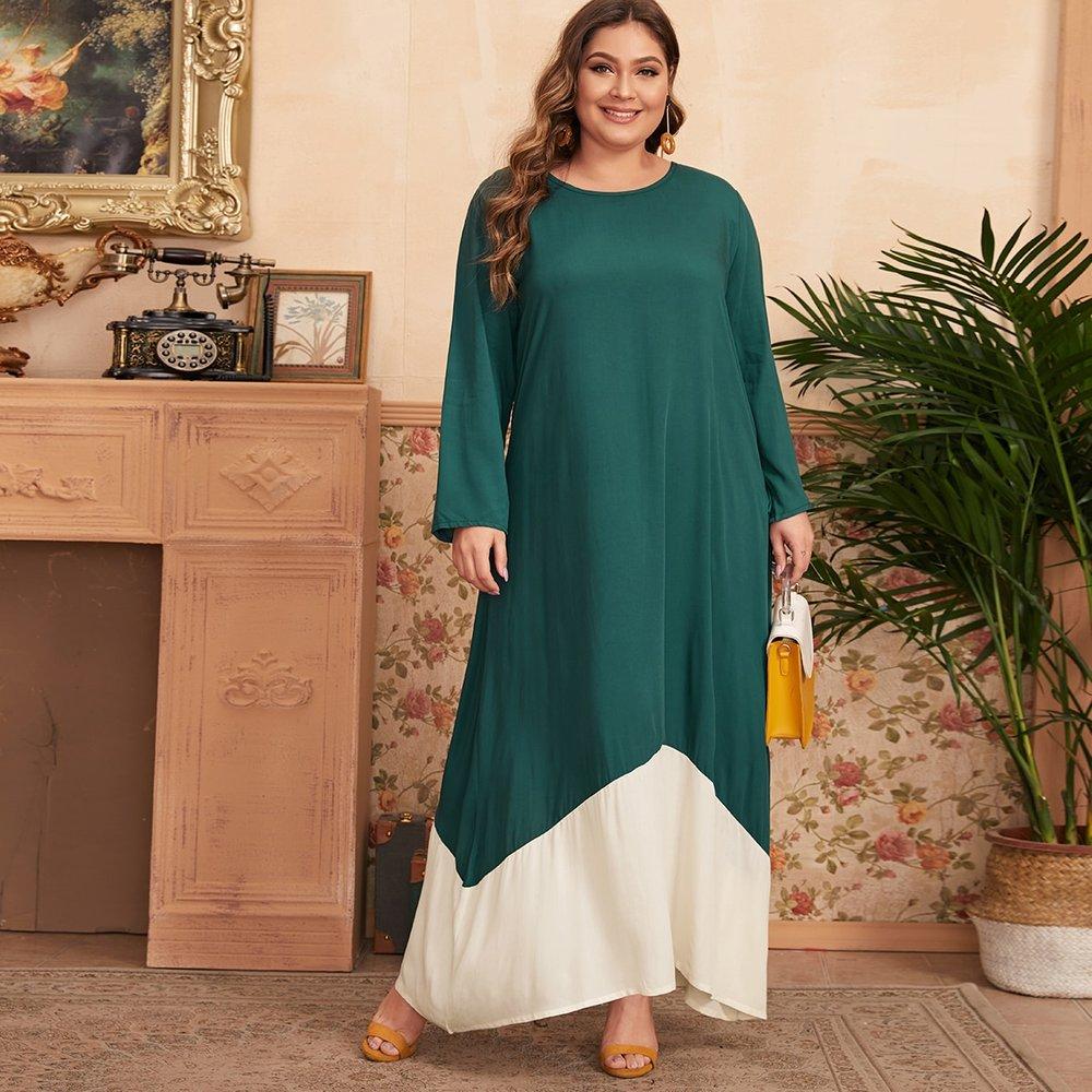 Robe tunique bicolore - SHEIN - Modalova