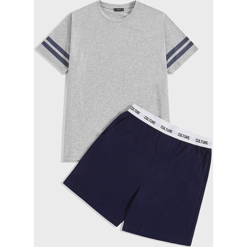 Ensemble de pyjama avec rayures - SHEIN - Modalova