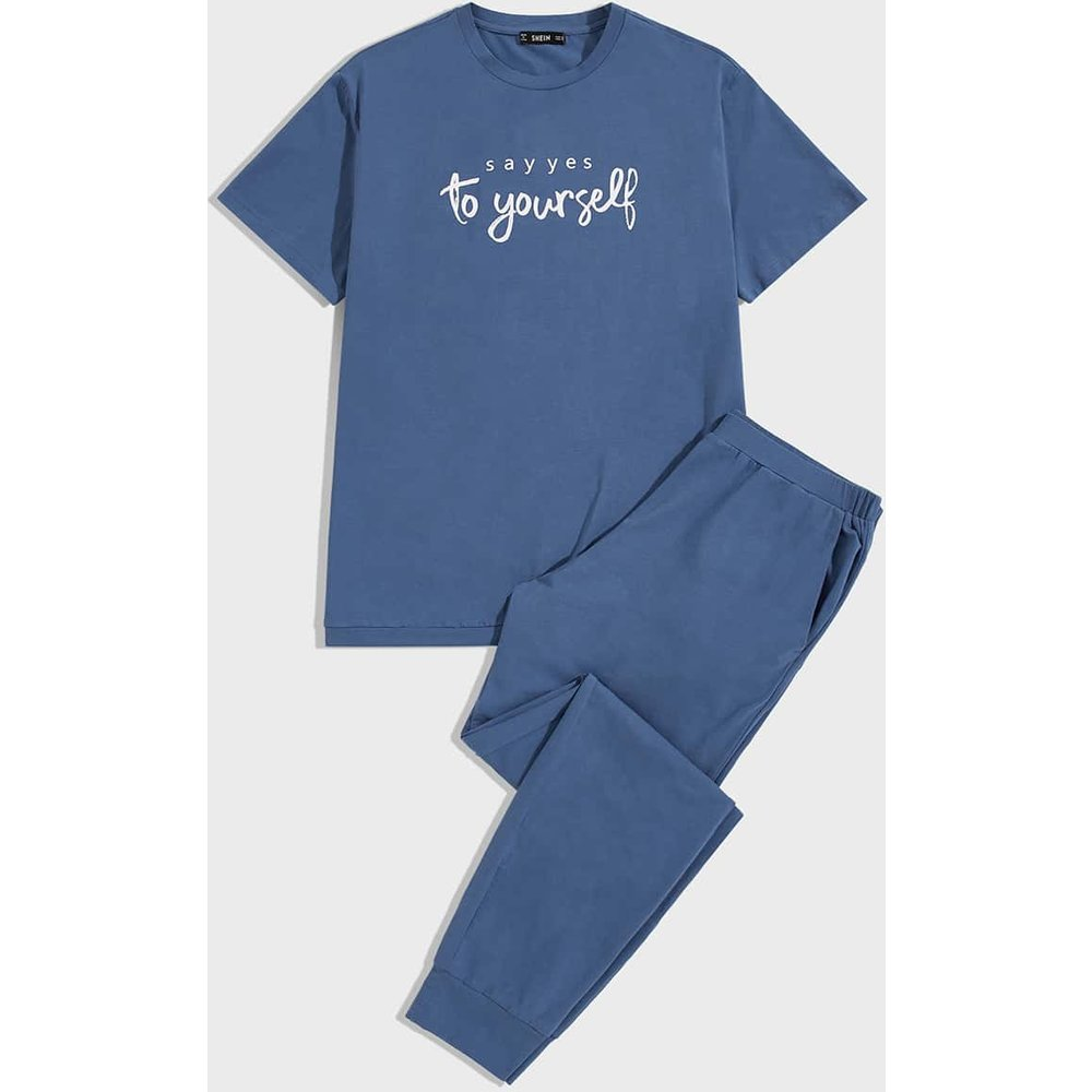 Ensemble de pyjama avec imprimé et poche - SHEIN - Modalova