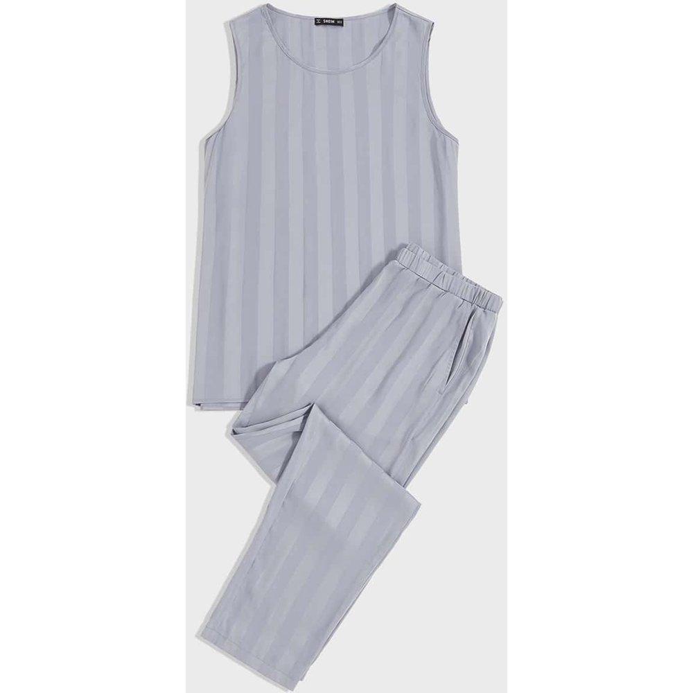 Ensemble de pyjama à rayures - SHEIN - Modalova