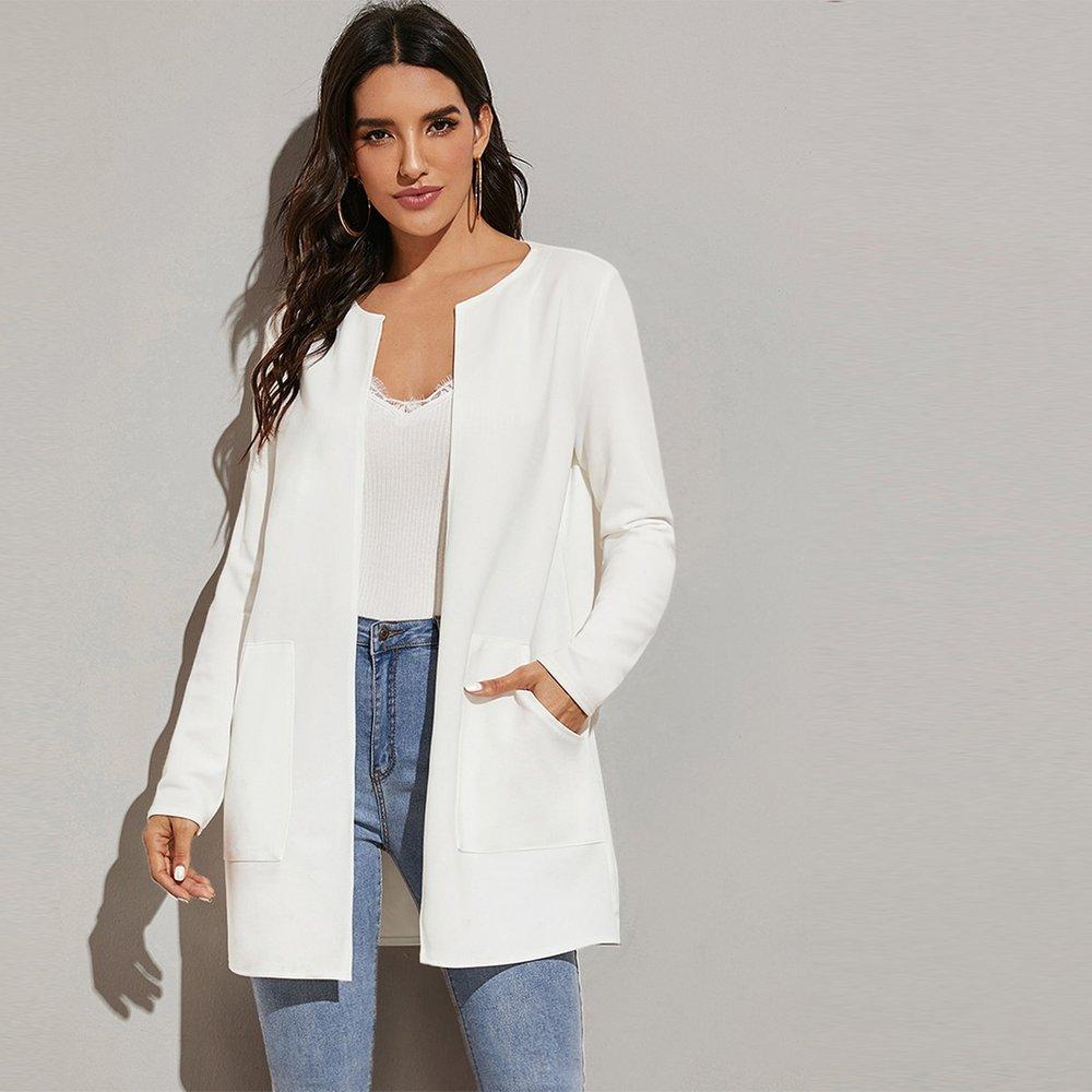 Manteau avec poches - SHEIN - Modalova