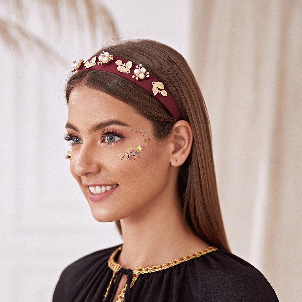 Bandeau avec strass et fausse perle - SHEIN - Modalova