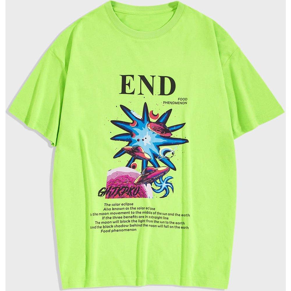 T-shirt avec imprimé galaxie - SHEIN - Modalova