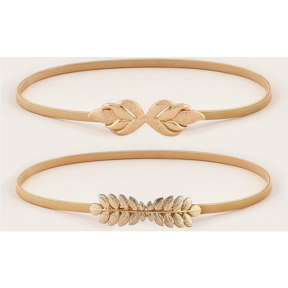 Pièces Set de ceinture à boucle design feuille métallique - SHEIN - Modalova