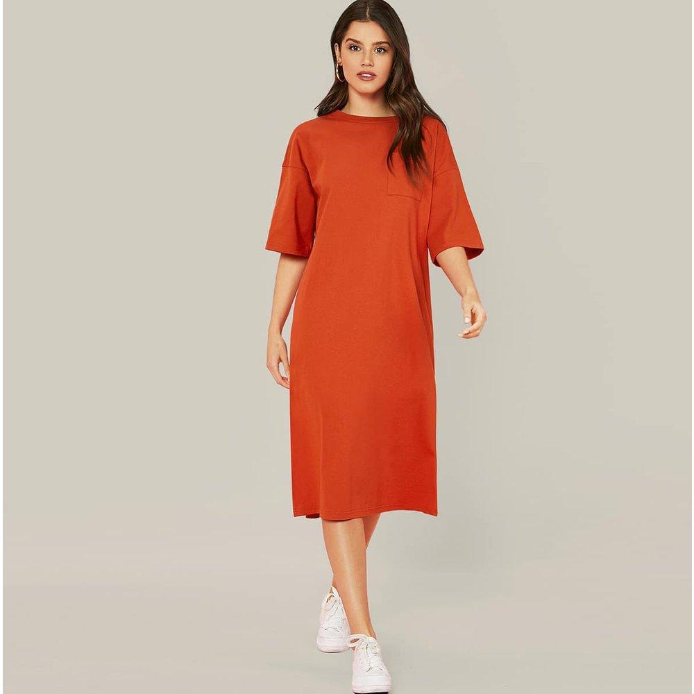 Robe t-shirt avec poche - SHEIN - Modalova