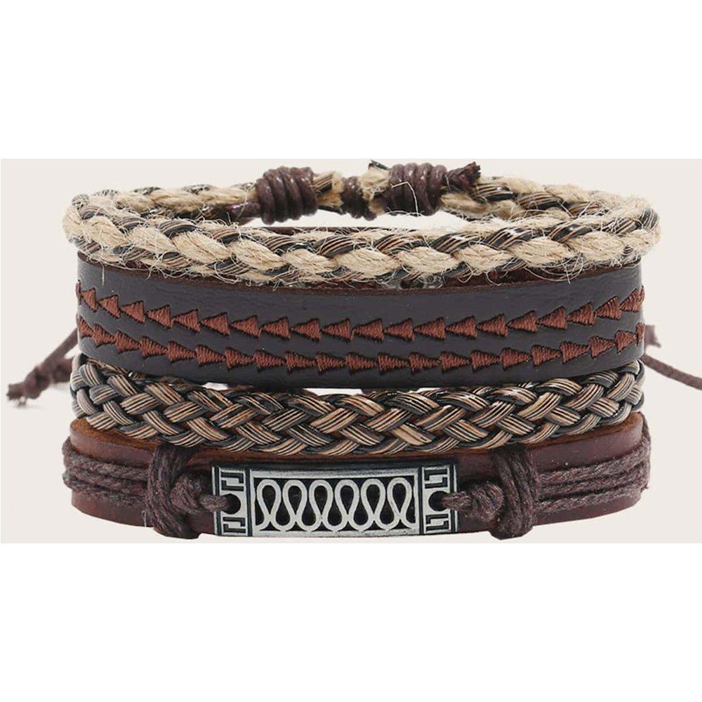 Pièces Bracelet tressé en cuir PU - SHEIN - Modalova