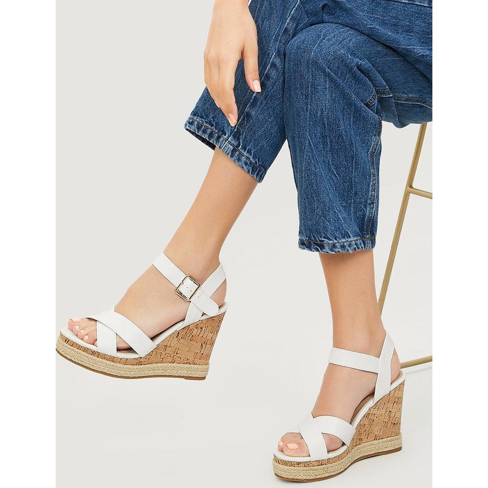 Sandales compensées à plates formes avec bandes croisées - SHEIN - Modalova