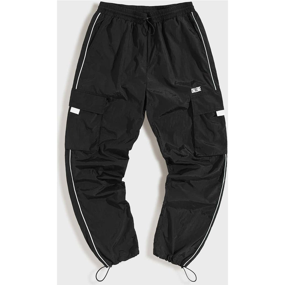 Pantalon coupe-vent avec broderie et poches - SHEIN - Modalova